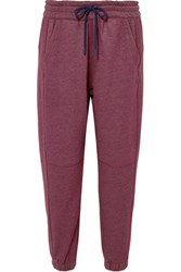 Lndr Athletics Cotton Blend Jersey Track Pants Burgundy