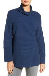 Vince Camuto Women's Ribbed Turtleneck Sweater Naval Navy