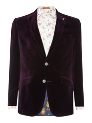 Simon Carter Velvet Jacket Plum