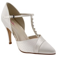Rainbow Club Astrid T Bar Court Shoes Ivory
