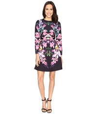 Ted Baker Toona Lost Garden Long Sleeve Dress Black Women's Dress
