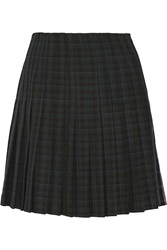Band Of Outsiders Pleated Tartan Mini Skirt