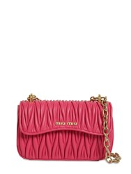Miu Miu Matelasse Leather Shoulder Bag Magenta