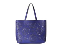 Echo Starburst Reversible Essex And Pouch Dazzling Blue Silver Tote Handbags