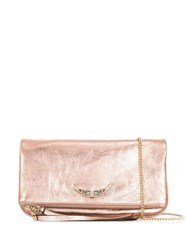 Zadig And Voltaire Rock Crush Clutch Bag Pink