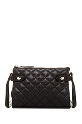 Perlina Piper Quilted Shoulder Leather Bag Black