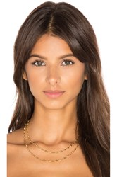 Gorjana Layer Bali Wrap Necklace Metallic Gold