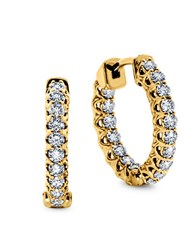 Lord And Taylor 14K Yellow Gold Hoop Earrings