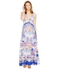 Brigitte Bailey Shaleen Spaghetti Strap Maxi Dress With Lace Inset Light Pink Multi Women's Dress