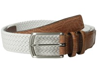 Torino Leather Co. 32Mm Italian Woven Multi Cotton Elastic White Belts