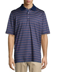 Bobby Jones Eagle Striped Polo Shirt Summer Navy