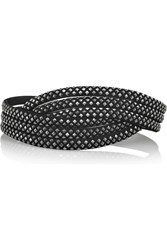 Alaia Extra Small Studded Suede Belt Black