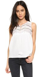 Suncoo Lasy Embroidered Top Blanc Casse