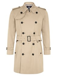 Aquascutum London Corby Double Breasted Raincoat Beige