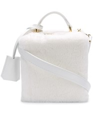 Natasha Zinko Rigid Box Shoulder Bag White