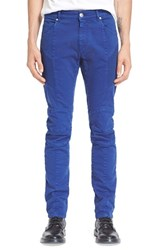 Men's Pierre Balmain Moto Jeans Blue
