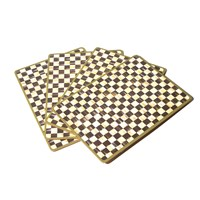 Mackenzie Childs Courtly Check Cork Back Placemats Set Of 4