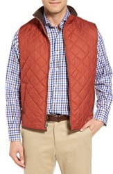 Peter Millar Men's 'Hudson' Lightweight Quilted Vest Rust