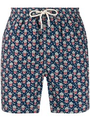 Mc2 Saint Barth Pop Corn Print Swim Shorts Blue