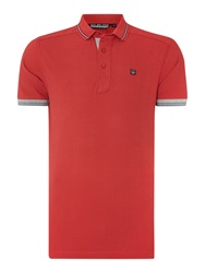 Duck And Cover Plain Regular Fit Polo Shirt Red