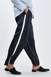 Boutique Stripe Wide Leg Trousers By Navy Blue