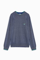 Kenzo Men S Knit Tiger Sweater Boutique1 Navy
