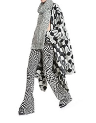 Tracy Reese Jacquard Blanket Coat Black