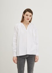 6397 Cotton Peasant Blouse White