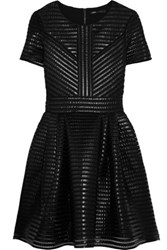 Maje Roybridge Coated Mesh Mini Dress Black