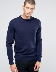 Fred Perry Jumpers With Crew Neck In Dark Carbon Dk Crb Blue