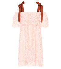 Ganni Duval Lace Dress Pink