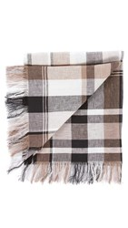 Our Legacy Check Scarf Black White Brown