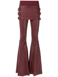 Andrea Bogosian Leather Trousers Women Leather Spandex Elastane Polyimide P Red