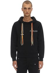 Ambush Printed Cotton Jersey Multi Cord Hoodie Black