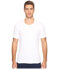 Dolce And Gabbana Stretched Rib Cotton Round Neck Tee White