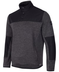 Greg Norman For Tasso Elba Men's Quarter Snap Hydrotech Colorblocked Jacket Only At Macy's Charcoal Heather