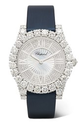 Chopard L'heure Du Diamant 35.75Mm 18 Karat White Gold