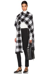 Jenni Kayne Poncho In Black White Checkered And Plaid