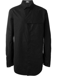Lost And Found Oversized Plain Shirt Black