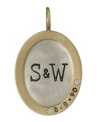 Oval Silver And 14K Gold Anniversary Charm Heather Moore Silver Gold