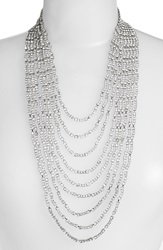 Cristabelle 'Waterfall' Multistrand Crystal Necklace