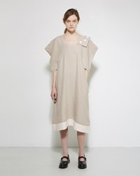 Comme Des Garcons Jupe By Jackie Linen Dress Natural