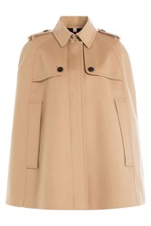 Burberry London Wool Cape With Cashmere Camel