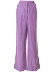 Ungaro Emanuel Vintage Wide Leg Trousers Pink And Purple