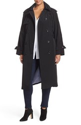 London Fog Plus Size Women's Double Breasted Trench Coat Black