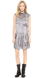 Nina Ricci Snake Print Dress Grey Mauve