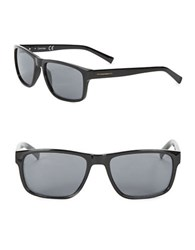 Calvin Klein 57Mm Rectangular Sunglasses Black