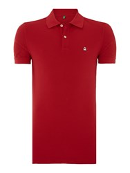 United Colors Of Benetton Logo Polo Regular Fit Polo Shirt Red