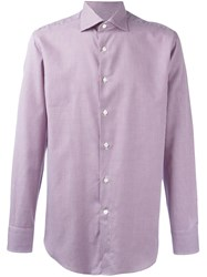 Canali Square Pattern Shirt Red