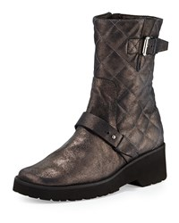 Adrian Metallic Quilted Boot Anyi Lu Grey